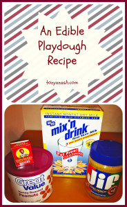 An Edible Playdough Recipe