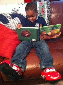 Little Man Reading a Book