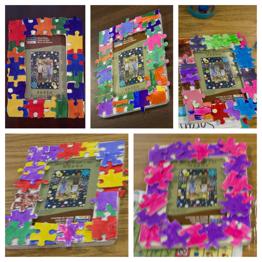 Puzzle Piece Frames for Autism Awareness