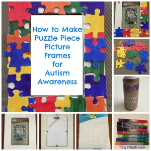 How to Make Puzzle Piece Picture Frames for Autism Awareness