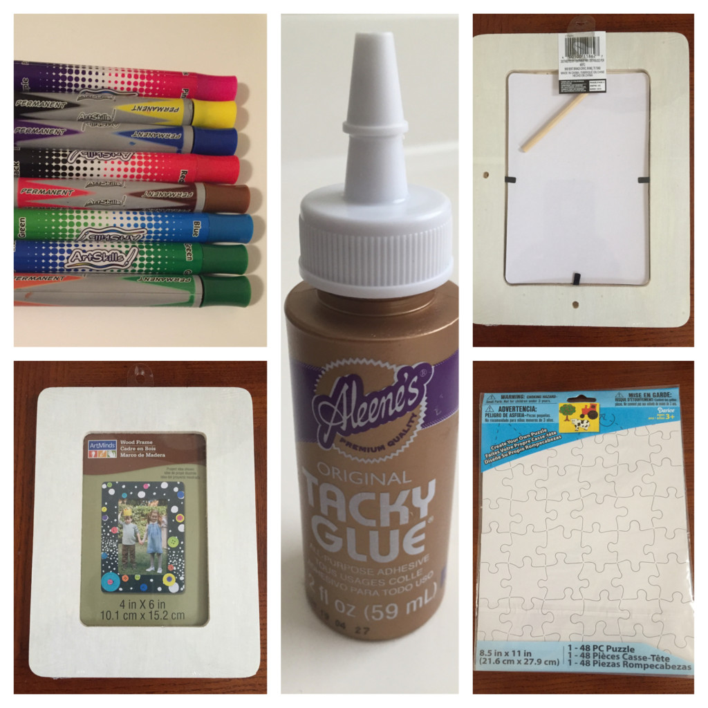 Supplies for Puzzle Piece Picture Frames