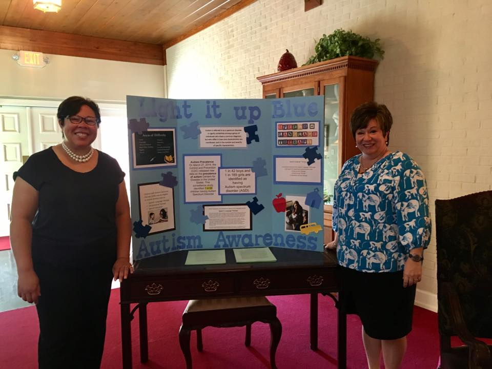 Calvary Baptist Church Members Light It Up Blue